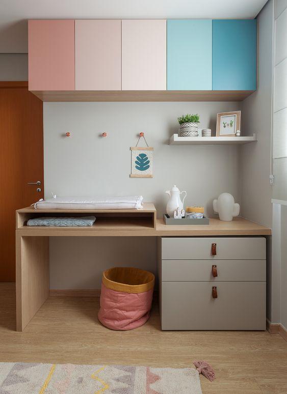 Móveis coloridos para quarto de bebê