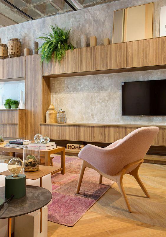 Móveis de madeira para sala de estar