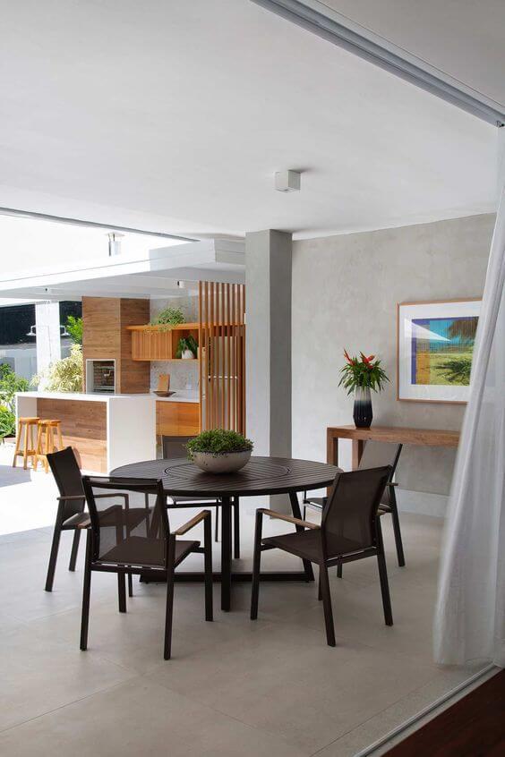 Mesa para área externa preta