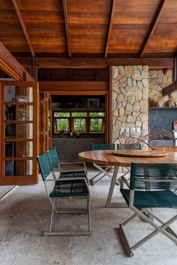 Mesa para área gourmet externa