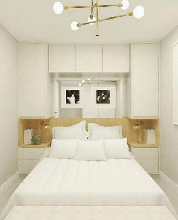 Modelo de guarda-roupa com cama embutida de casal