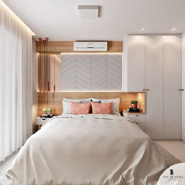Modelo de guarda-roupa com cama embutida super moderna