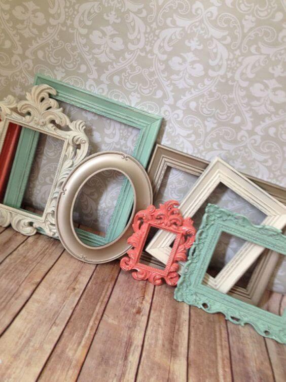 Molduras coloridas para porta retrato