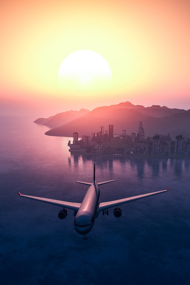 Morar perto de uma rota de avião tem seus prós e contras