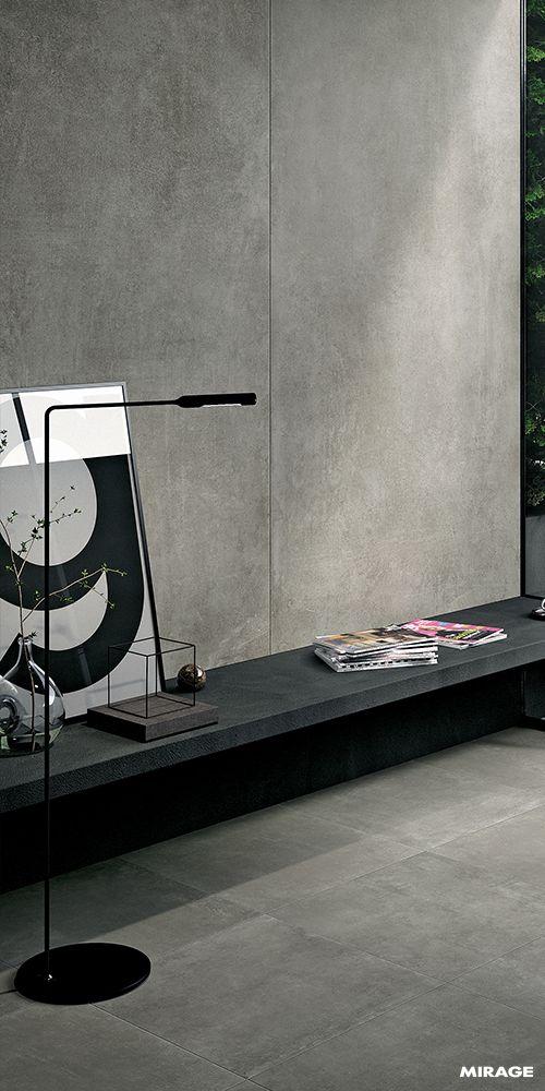 Papel de parede concreto para sala de estar