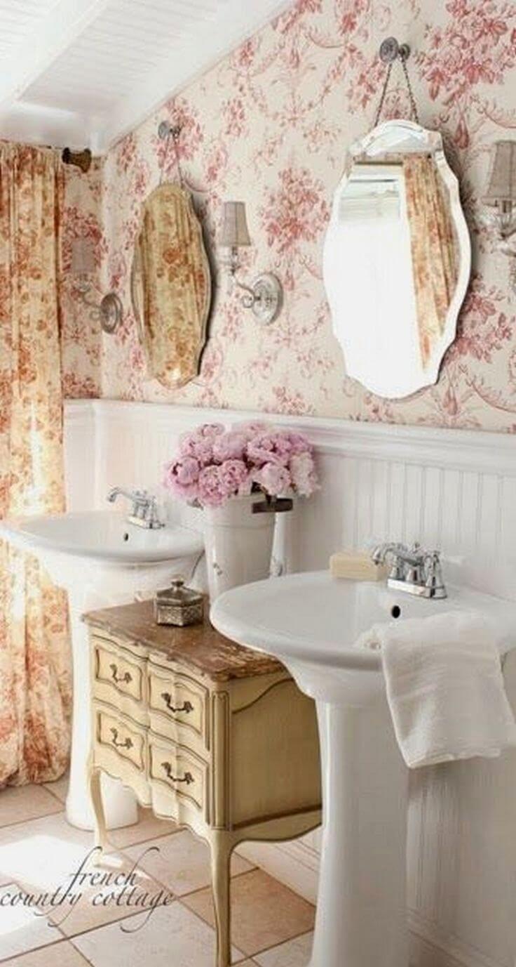 Papel de parede rosa com floral