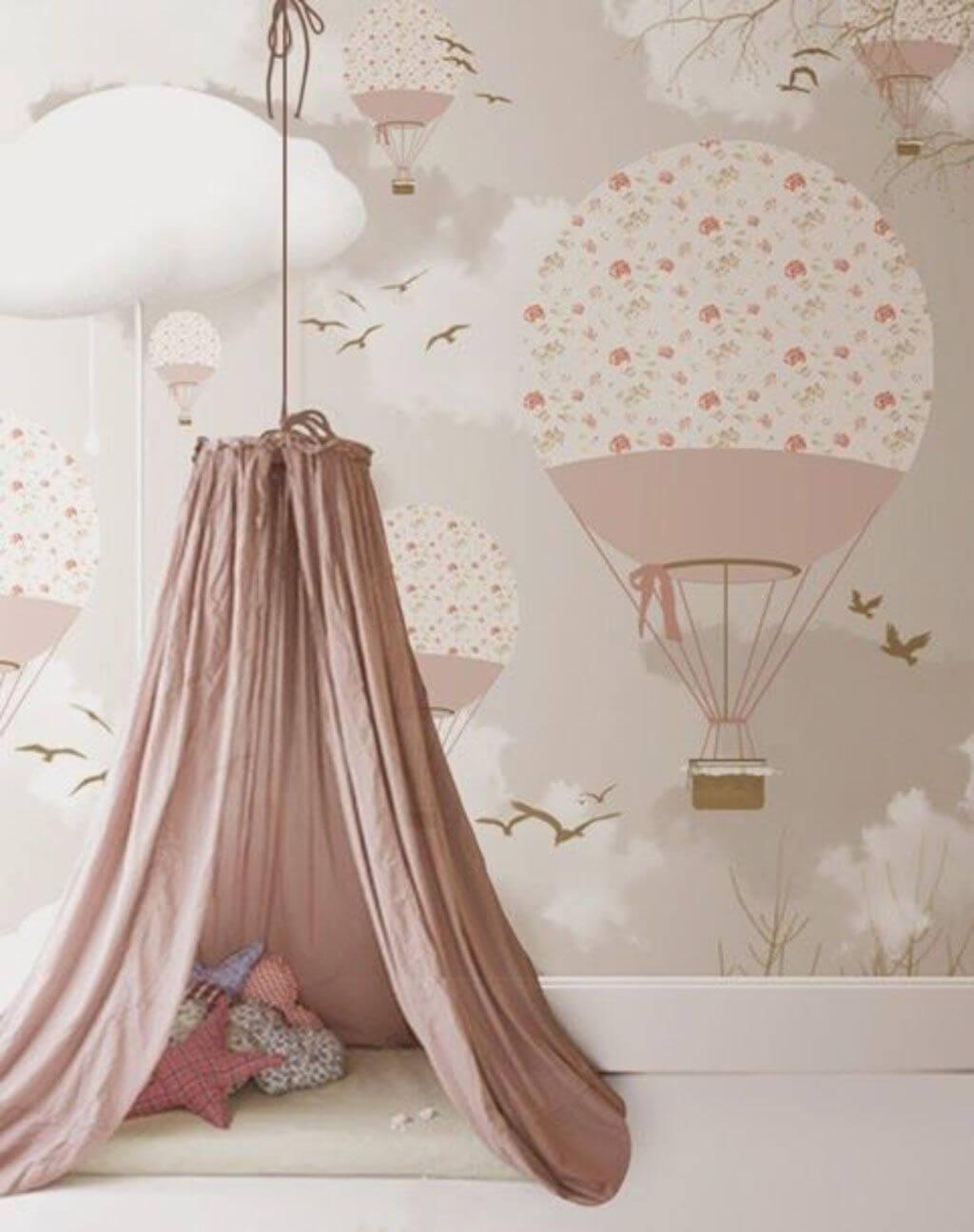 Papel de parede rosa pastel