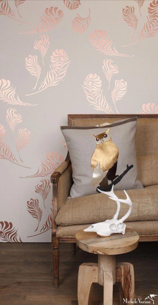 Papel de parede rose gold para sala de estar