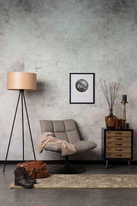 Papel de parede rustico de concreto para sala de estar