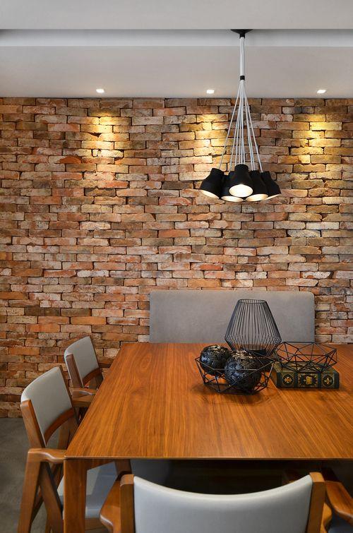 Papel de parede rustico de tijolinho rustico