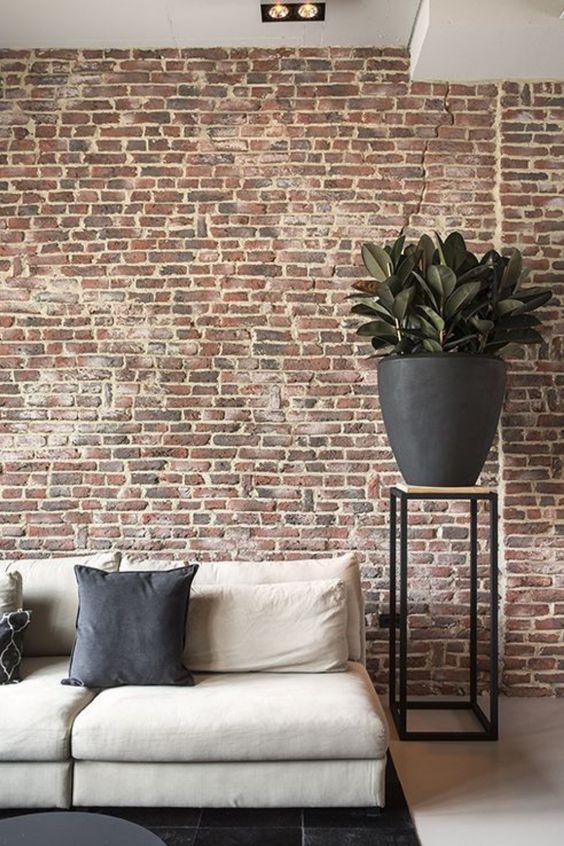 Papel de parede rustico para sala de estar