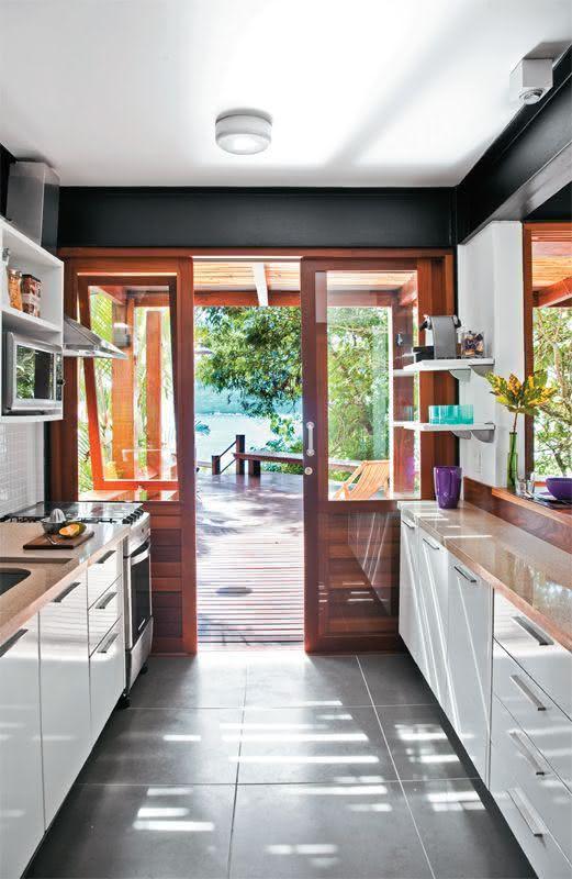Piso cerâmico para cozinha cinza