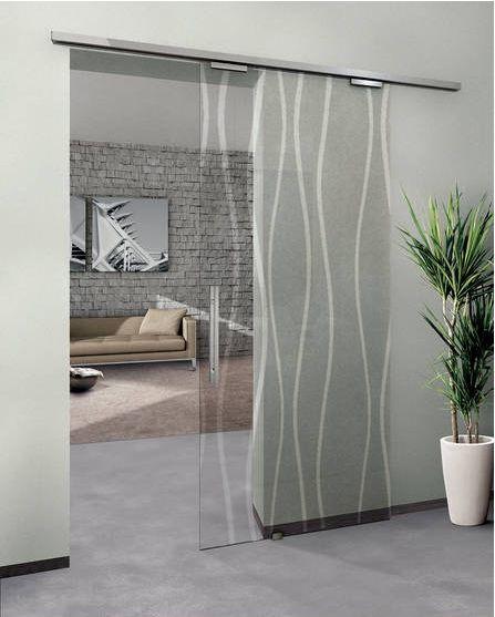Porta de correr para sala de vidro desenhado