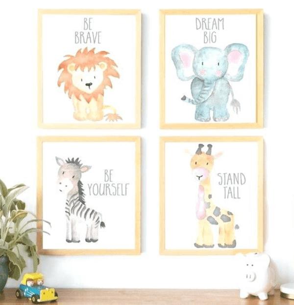 Quadro decorativo para quarto infantil