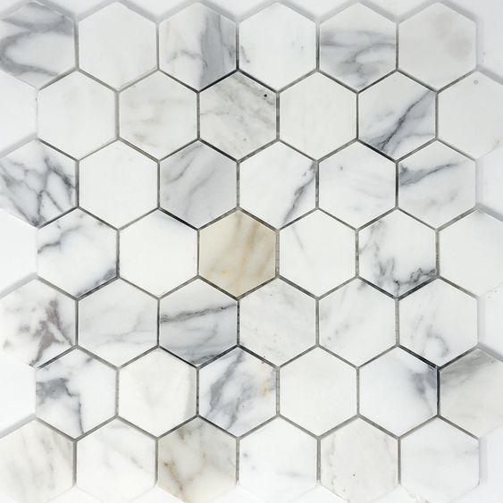 Revestimento hexagonal marmorizado