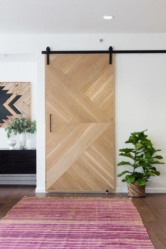 Sala moderna com porta de correr