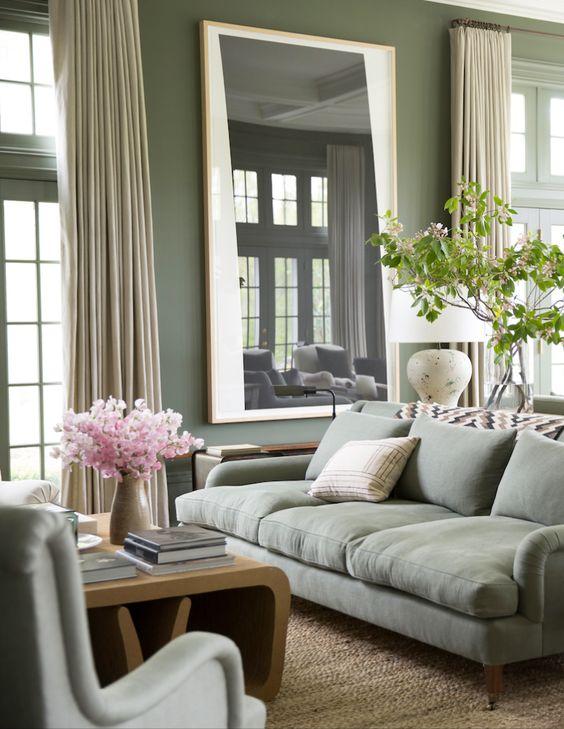 Sala verde suave