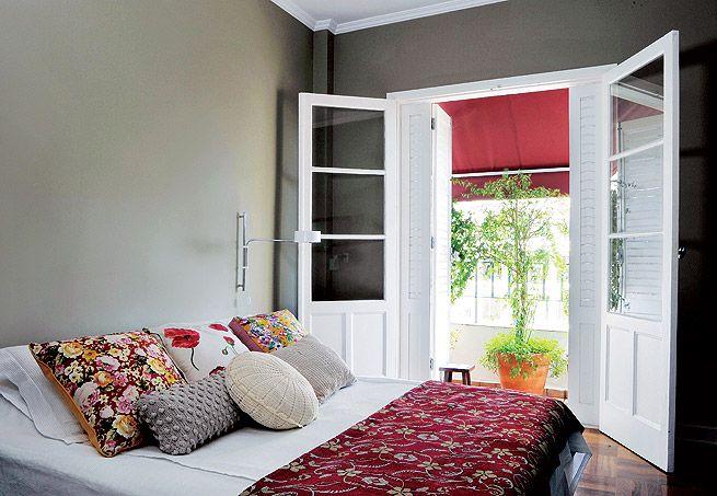 Varanda pequena no quarto