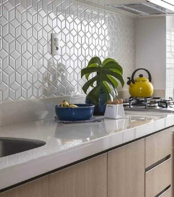 decoração com azulejo de cozinha branco