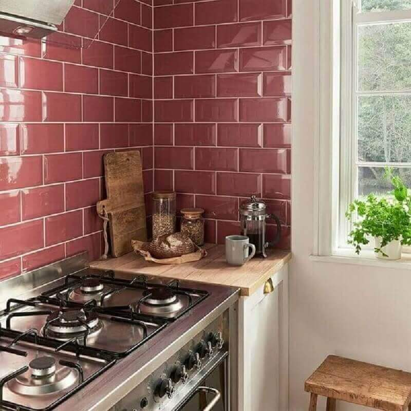 Decoração com azulejo de cozinha colorido