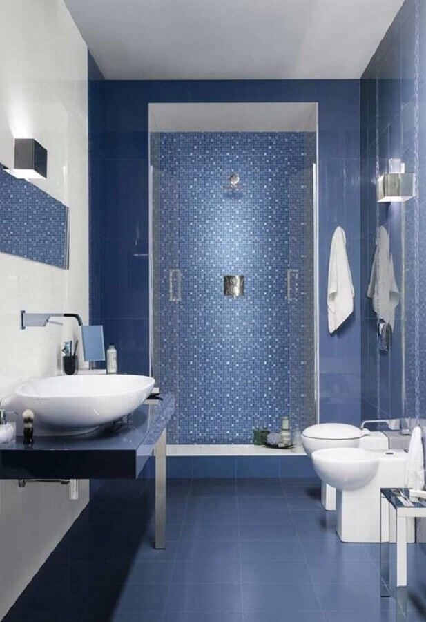 decoração de banheiro azul Foto Home Fashion Trend