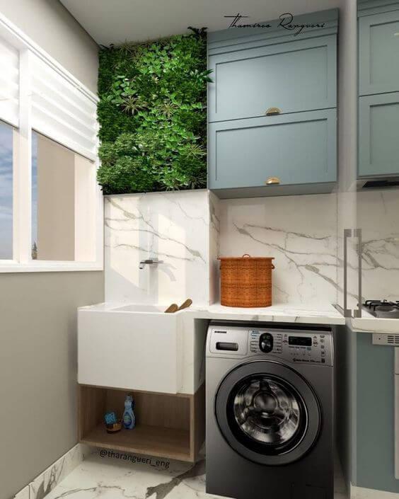 Lavanderia simples e moderna