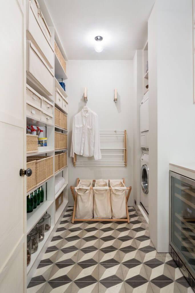 Lavanderia simples organizada