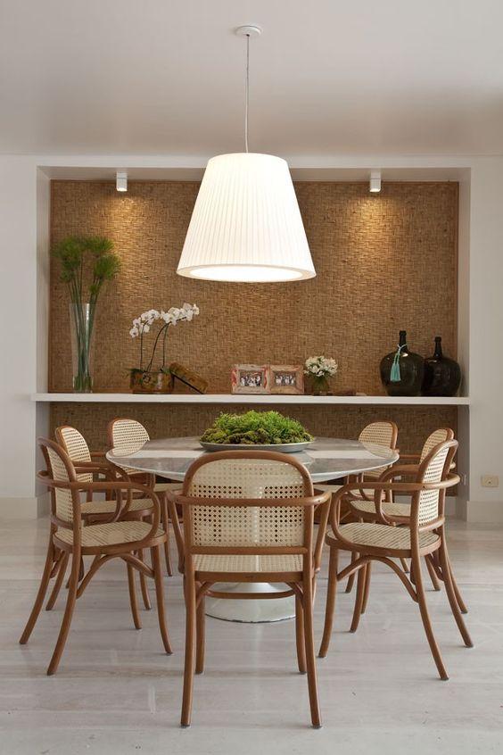 Lustre branco para sala de jantar moderna