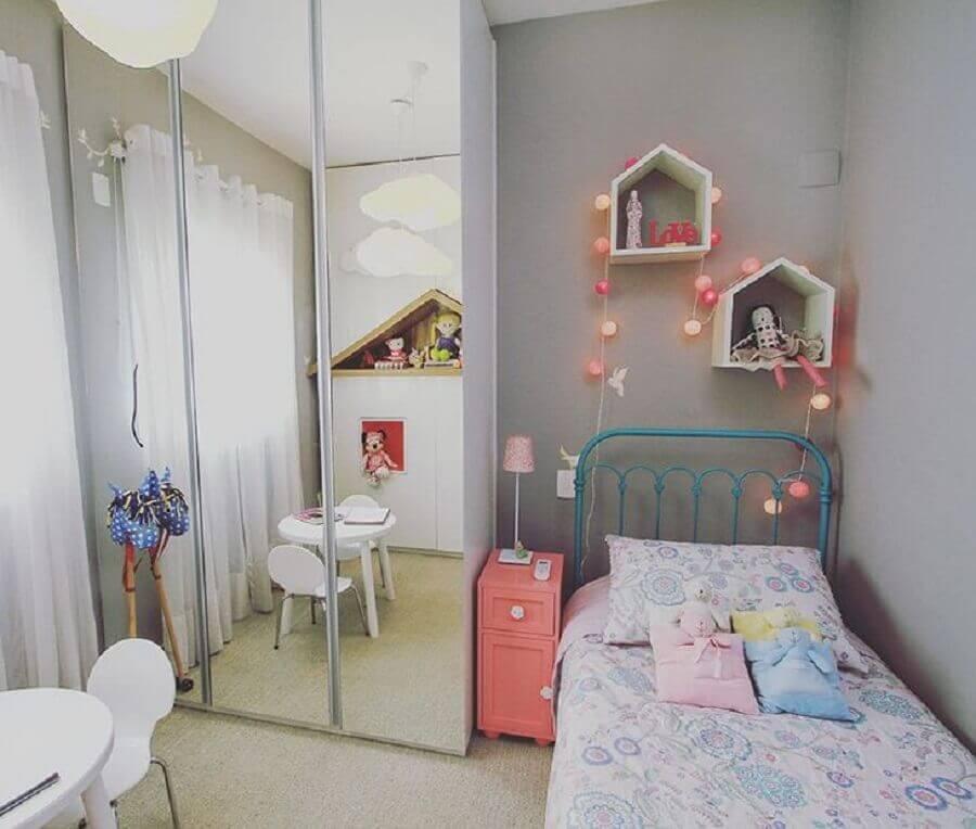 Nicho casinha para decoração de quarto infantil feminino pequeno