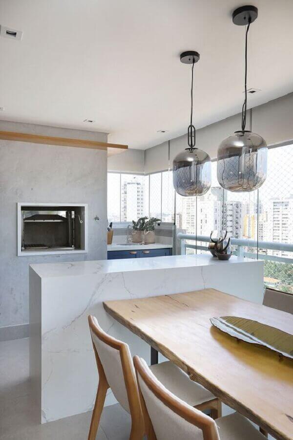 Pendente de vidro para área gourmet moderna e minimalista