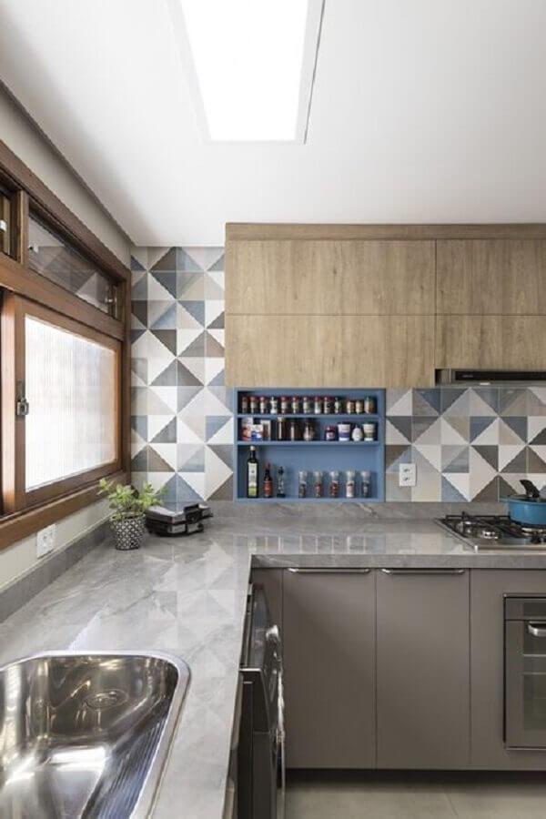 Tipos de azulejos para cozinha estampado para decoração moderna
