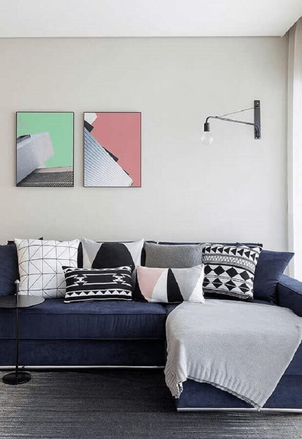 Almofadas para sofá azul marinho