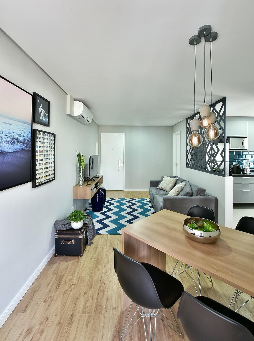 Un appartement de 57 m² avec un petit budget devient le refuge idéal.  Photo: Poupée Sidney