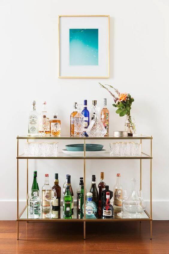 Aparador bar de vidro