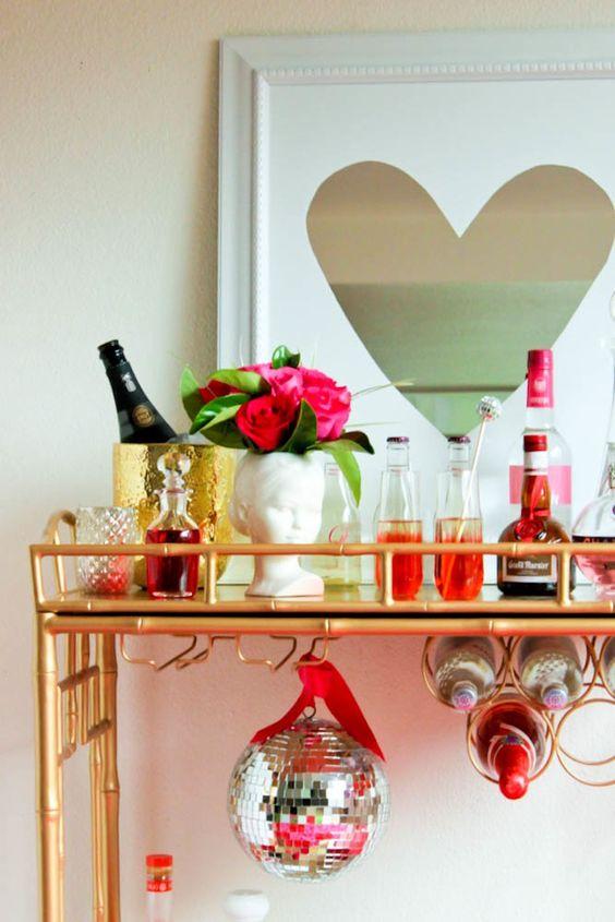 Aparador bar para festas em casa