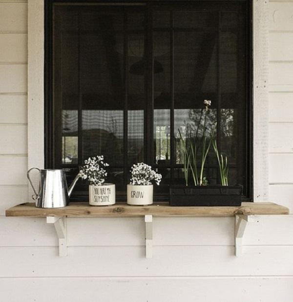 As plantas são ótimas opções para decoração da janela do lado de fora. Fonte: Twelve on Main