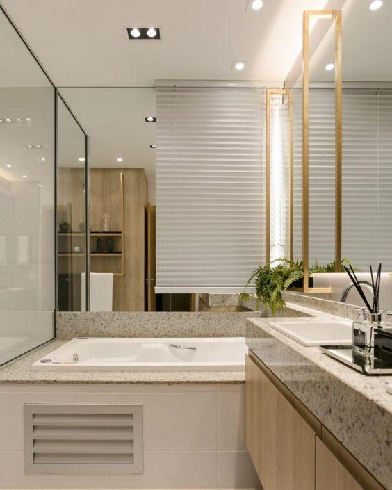 Bancada de granito bege para sala
