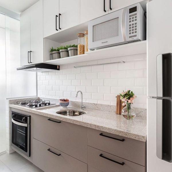 Bancada de granito branco para cozinha