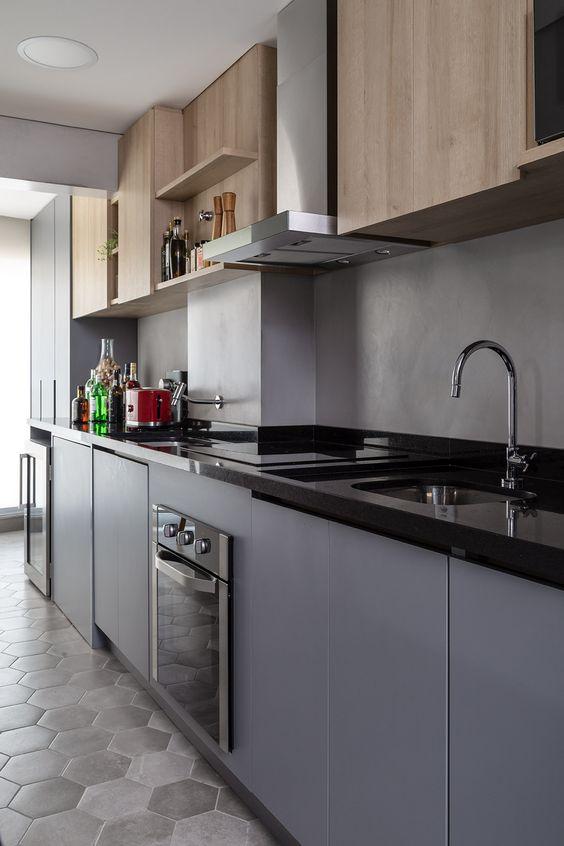 Bancada de granito para cooktop
