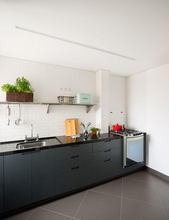 Bancada de granito para cozinha preta