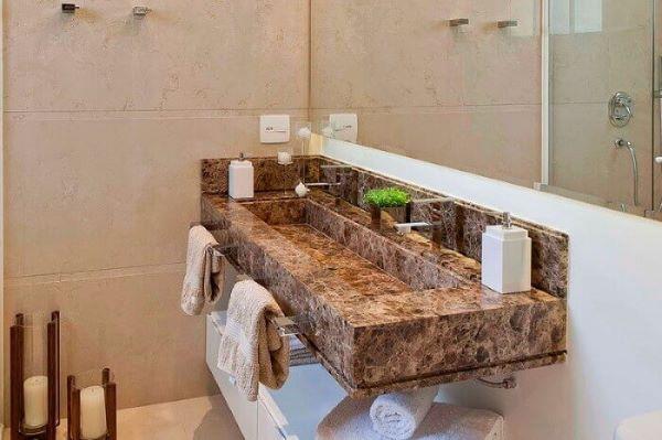 Bancada de granito para pia de lavabo