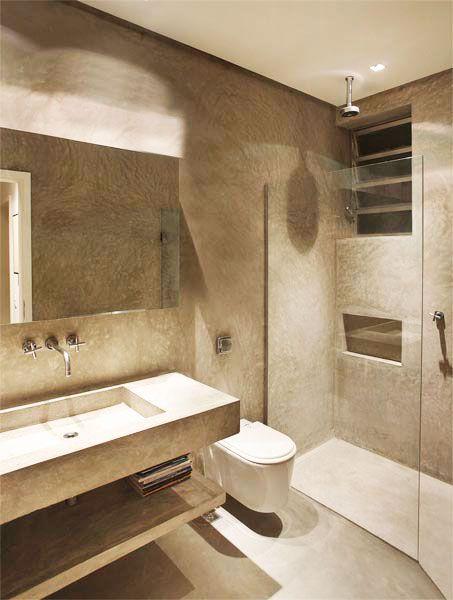 Banheiro com granito bege