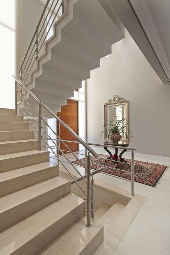 Casa elegante com granito bege