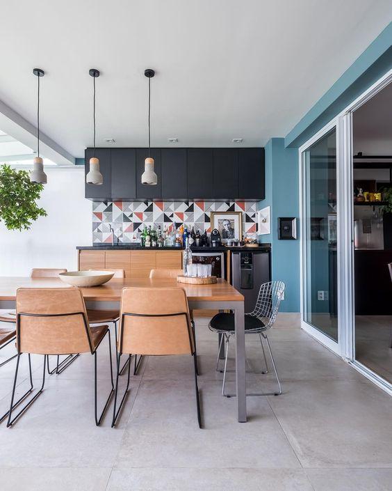 Cerâmica para area externa com cozinha