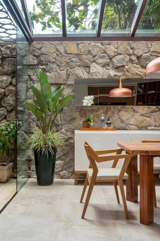 Cerâmica para área externa elegante