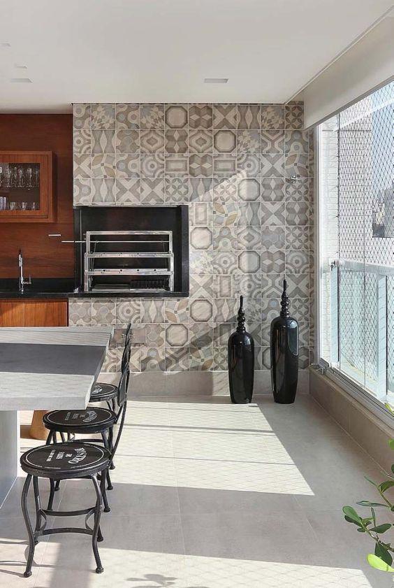 Cerâmica para parede de área externa