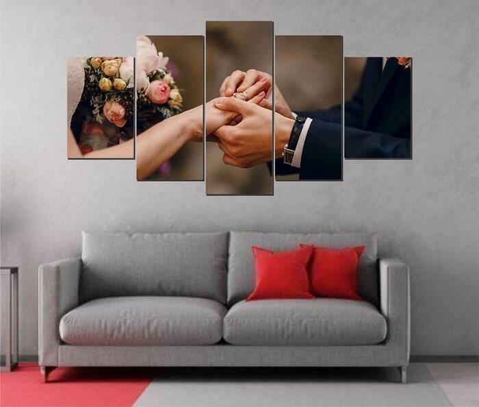 Compartilhe os melhores momentos da vida por meio do quadro mosaico. Fonte: Portal Quadros