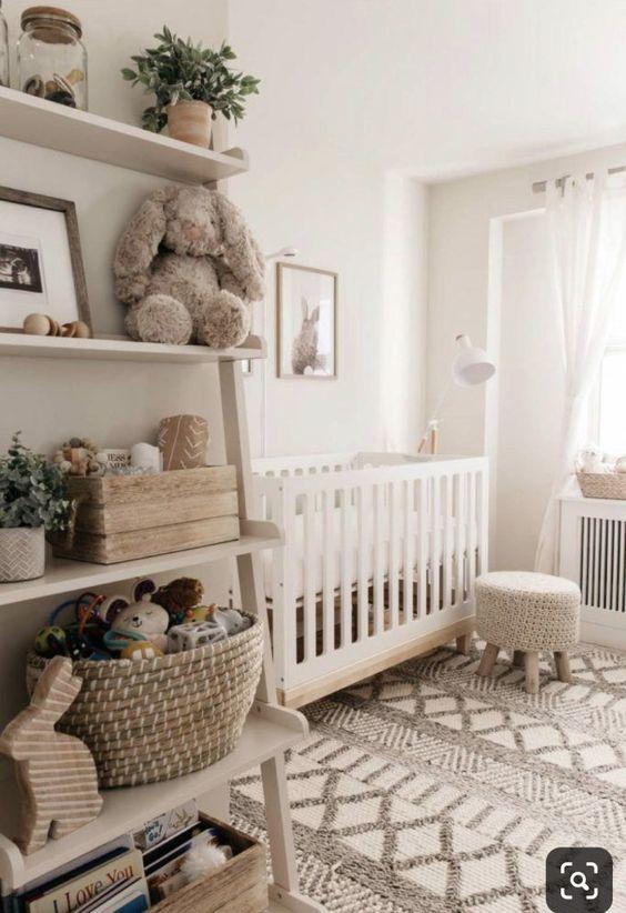 Decoração minimalista para quarto de bebe retro
