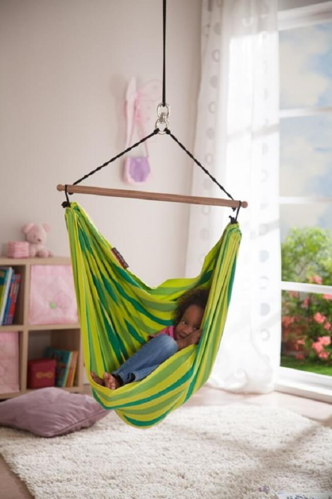 Decore o quarto das crianças com uma linda rede cadeira
