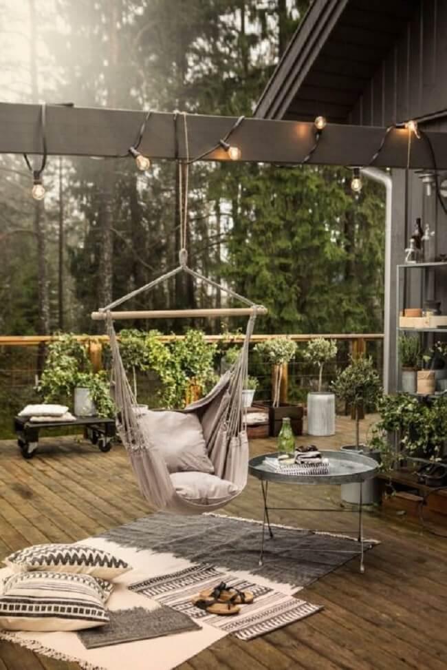 Decore seu terraço com uma linda rede cadeira